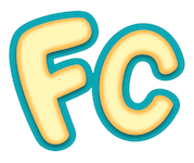 FillyCon logo with golden bubble 'FC' letters on a teal outline